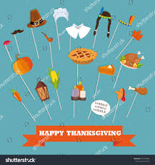 thanksgiving photo booth props happy thanksgiving photo booth props pilgrim stock vector