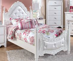 Kids Bedroom Furniture Girls Exquisite Twin Size Poster Bed Beds Ashley Furniture