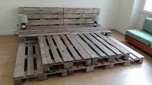 Low Waste Platform Bed Plans by Whole Pallet Platform Bed 150 Wonderful Pallet Furniture Ideas
