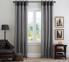 Emery Drapes Pottery Barn Linen Curtains Indoor Outdoor Grommet Top Curtains