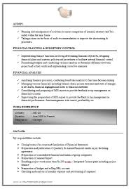 resume format doc for fresher accountant excellent work experience chartered accountant resume sle doc 3