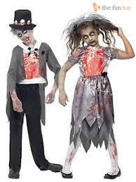 Girls Zombie Halloween Costume Girls Zombie Bride Boys Zombie Groom Costume Child Halloween Fancy