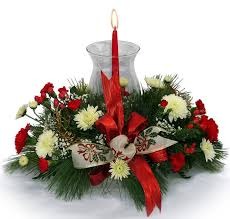 Christmas Flower Table Decorations by Christmas Floral Arrangements Casual Cottage