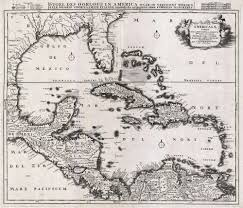 Caribbean Maps by File 1696 Danckerts Map Of Florida The West Indies And The