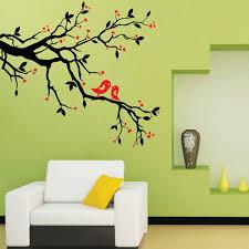 bird wall design living room wall skicky black tree branch