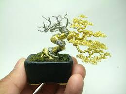 miniature bonsai tree wire sculptures by ken to twistedsifter