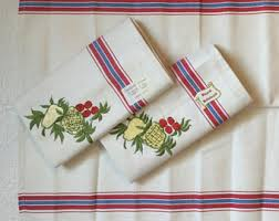 Kitchen Towel Embroidery Designs Cotton Dish Towel Etsy