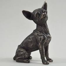chihuahua figurine cold bronze chihuahua figurines
