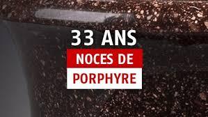 33 ans de mariage 33 ans de mariage idées cadeaux pour fêter les noces de porphyre