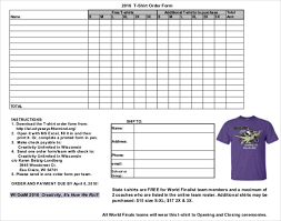 Order Sheet Template T Shirt Order Form Template 21 Free Word Pdf Format