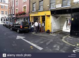 wardour mews london soho stock photo royalty free image