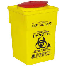 wall mounted sharps containers livingstone sharps disposal container pp yellow square 5l