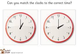 pet matching clocks game o u0027clock free classroom display