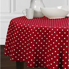 red white polka dot table covers sweet jojo designs red and white round polka dot tablecloths dining