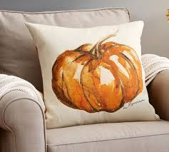 painted pumpkin patch pillow cover pottery barn