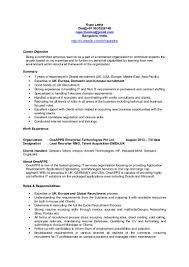 Staffing Recruiter Resume Emea Europe Uk Recruiter Cv