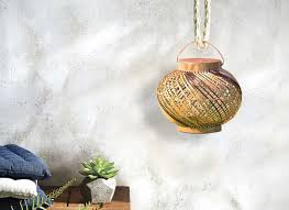 shop handmade cane designer lamps home décor craftedindia