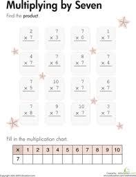 multiplying by seven worksheet education com