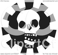 creepy clipart royalty free rf clipart illustration of a creepy white skull