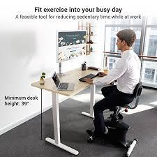 Under Desk Exercise by Loctek U2 Fitness Under Desk Magnetic Recumbent Bike With Back