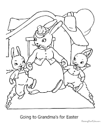 easter bunny coloring pages to print 016