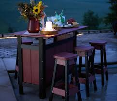 Patio Tall Table And Chairs Diy Patio Bar Table