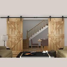 Barn Door Hardware Interior 2017 Rustic Steel Black Arrow Stylish Antique Double Wooden