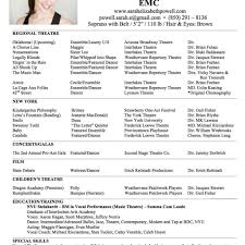 100 advanced resume format amazing actor resume samples to