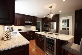 dark kitchen cabinets with light granite exquisite concept