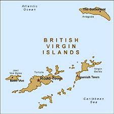 map of bvi and usvi health information for travelers to islands