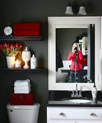 Bathroom Shelves Decorating Ideas Colors Best 25 Red Bathrooms Ideas On Pinterest Paint Ideas For
