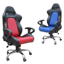 Racing Seat Desk Chair Adjustable Office Racing Chairs With Arm Rests Gsm Sport Seats
