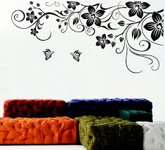 black swirl flower wall decals for white livin 409 green way parc black swirl flower wall decals for white living room with modern furniture