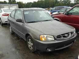 2002 hyundai accent salvage certificate 2002 hyundai accent hatchbac 1 6l 4 for sale