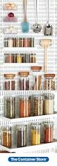 Best Spice Racks For Kitchen Cabinets 55 Best Elfa Pantry Images On Pinterest Container Store Kitchen