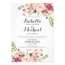 wedding invites rustic floral wedding invitation zazzle