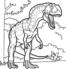 coloring pages draw dinosaur exprimartdesign
