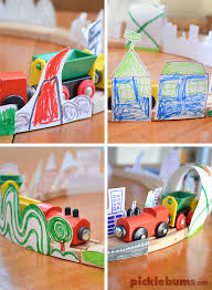 Make Your Own Wooden Toy Train by Diy Train Track Scenery Picklebums