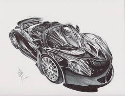 supercar drawing ballpoint drawing hennessey venom gt imgur