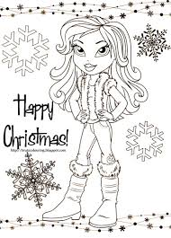 bratz coloring pages bratz christmas family planner