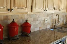 tropical brown granite with 3x6 brick pattern back splash for