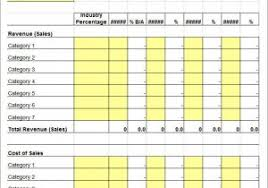 profit u0026 loss and balance sheet projected profit and loss template