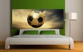 stickers pour chambre ado stickers tête de lit ballon de foot art déco stickers