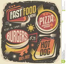fast food restaurant menu creative design concept stock vector