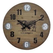 foreside home u0026 garden farmhouse wooden wall clock