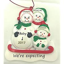 we re expecting snowmen family of 3