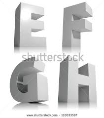 big 3d letters isolated on white stock illustration 110033603