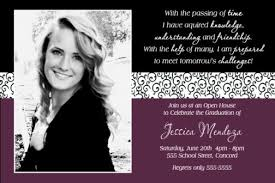 high school graduation invitation burgundy black scroll graduation photo card invitation