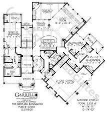 bungalow style floor plans grist mill bungalow house plan 07462 1st floor plan mountain