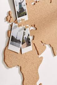 Self Adhesive World Map Decorating Cork Board World Map Urban Outfitters